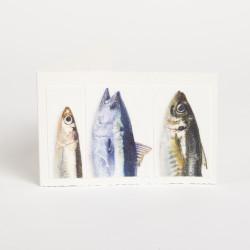 Klappkarte Fische