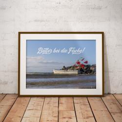 """Poster """"Butter bei die Fische"""""""