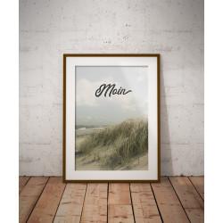 """Poster Ostseestrand """"Moin"""""""