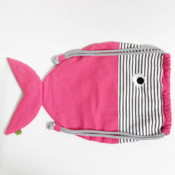 Fischrucksack pink