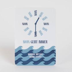 """Postkarte """"Moin Uhr"""""""