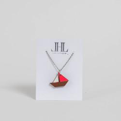 Kette Segelboot aus Holz...