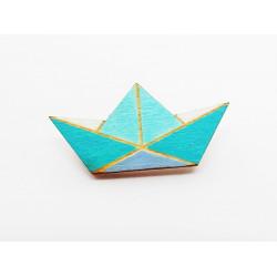 Origami-Brosche aus Holz...