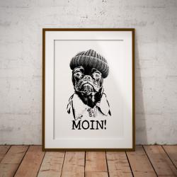 """Kunstdruck """"Moin"""""""